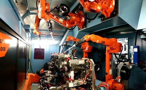 Inbetriebnahme von 4 ABB Robotern Schweißrobotern
