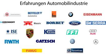 Eine Übersicht der gesammelten Erfahrungen bei Kunden der Automobilindustrie